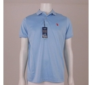 US Polo Assn Feel Dry Polo Shirt Light Blue Size: M