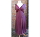 JoJo Maman Bebe silk chiffon empire line dress burgundy Size: 12