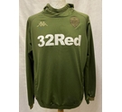 Official Leeds United Kappa Training Hoodie Green Size: S