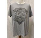 AC DC Official Black Ice T-Shirt Grey Size: XL