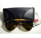 Ray ban Leather Aviator Sunglasses Gold Size: One size