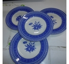 "Four 7"" plates, Queens 'Out of the Blue'"