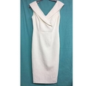 M & S Collection new tailored smart v neck dress white Size: 8