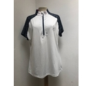 Green lamb Top navy and white Size: 14