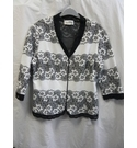 Joseph Ribkoff Lace trim Zip up cardigan Black and white Size: 16