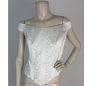 Mori Lee Embroidered Off Shoulder Bridal Bodice Size 22