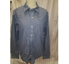 abercrombie fitch long sleeved and breast pocket blue pinstripe Size: M