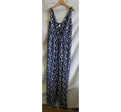 Tu Sleeveless All-in-one Blue/white Size: 8