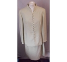 Viyella jacket and skirt suit pale green Size: 14
