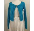 Cache Cache Cropped long sleeve cardigan Turquoise Size: M