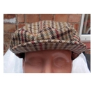 M&S Marks & Spencer Flat Cap Brown Check Size: Small