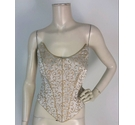 Nicola Anne Ornate Pattern Strapless Bodice Size 12