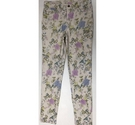 Monsoon Skinny Jeans Cream Floral Size: 22""