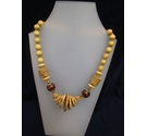 Wooden Beaded Cord Style Necklace Hippy African Retro 17""