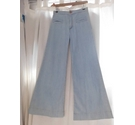 Chloe Flared High Waisted Jeans Blue Size: XS