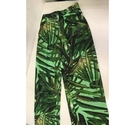 Zara tropical printed trousers in Green Size: M
