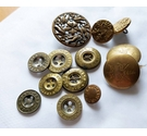 Lot of Victorian ornate metal buttons