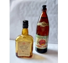 Pair of vintage miniature bottles, cider and sherry