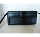 M&S Marks & Spencer Clutch Bag Black Size: One size