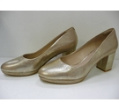 Clarks Shoes Brand new wide fit 2.5 inch heel Gold Metallic Size: 6.5