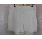 Zara Lace overlay shorts Cream Size: 28""