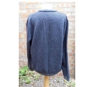 Ted Baker cotton/wool jacquard sweater blue marl/ navy Size: XXXL