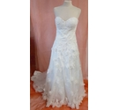 Pookamook Handmade Wedding Dress Ivory Size: 8