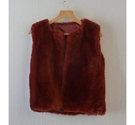 Unbranded Faux fur teddy gillet red Size: 8