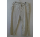 M&S Collection Straight leg pin stripe pants White and beige Size: 36""