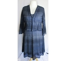 Tina Taylor Ladies Occassion Wear Blue and Silver Size: 18