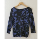 Next Patterned square neck jumper Blue Size: 12