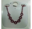 M&S Burgundy Chunky Necklace