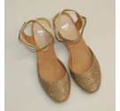 M&S Wide Fit Wedges Gold Metallic Size: 6