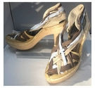 Stella McCartney High Heeled Sandals Blue and Brown Size: 6