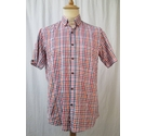 Kents Short Sleeve Shirt Red Check Size: M