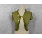 Monsoon Cap sleeve cropped cardigan Green Size: 10