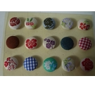 Material covered Button Pins (Card Making etc)