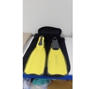 Cressi Swimming/snorkelling fins yellow / Black Size: 10-11