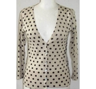 Unbranded NWOT Spotted Cardigan Cream Size: 32