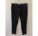 Roxy Straight front tie trousers Black Size: XL