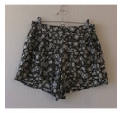 Peacocks Floral baggy shorts w/ pockets Green Size: 30""