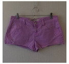 New Look Frayed style hot pants Purple Size: 30""