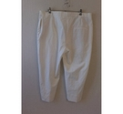 M&S Collection Smart 3/4 length trousers White Size: 38""