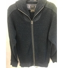 Diesel Cotton Zip Cardigan Petrol Blue Size: S