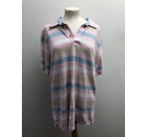 Maine Striped Polo Shirt Pink Size: M