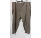 M&S Collection Trousers Brown and black Size: 46""