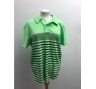 Haskler Striped Polo Shirt Green Size: M