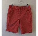 Papaya Thigh length cotton shorts Deep salmon Size: 32""