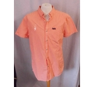 SuperDry London Button Down Shirt Orange Gingham Size: M