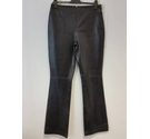 For Women Shaped leather trousers Black Size: M